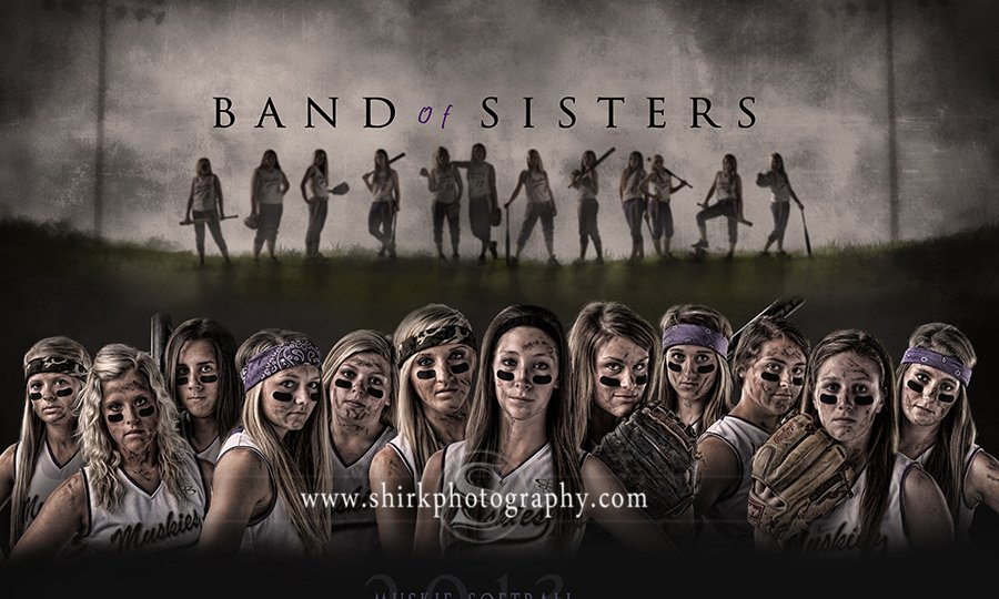 softball-team-composite-sports-poster-sports-team-band-of-brothers-team-poster