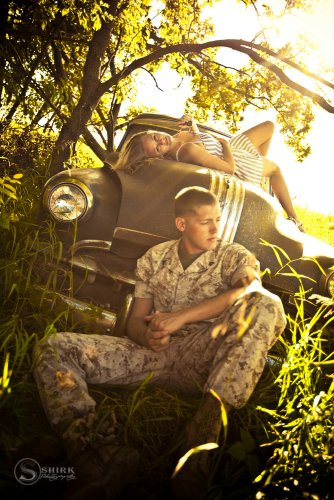 Shirk-Photography-Family-Portraits-Iowa-Creative-Army-Soldier-Old-Truck-Engagement