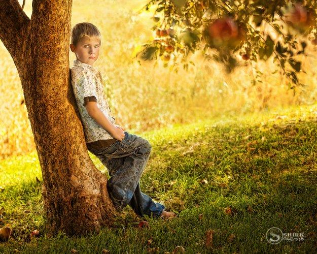 Shirk-Photography-Family-Portraits-Iowa-Creative-Son-Apple-Tree