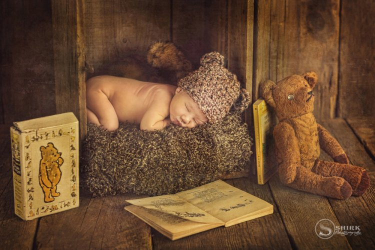 Shirk-Photography-Family-Portraits-Iowa-Creative-Teddy-Bear-Newborn-Pooh