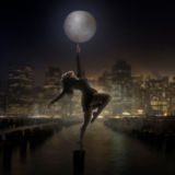 Senior Girl Portraits Full Moon Dance New York Sky Line Hudson River Sky Scrapper