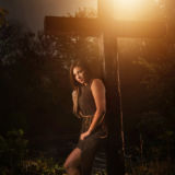 Senior Girl Portraits Sunset Summer Cross Religious Country Fall Summer