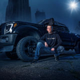 Senior Guy Portraits Truck 4x4 Off Road Urban Night Lights Ford